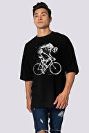 Rock & Roll Erkek Siyah Daha Hızlı Oversize Kısa Kollu T-shirt