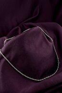 MOONİ ACCESSORİES Zarif Haç Tasarım Mat Gümüş Kaplama Zincir Kolye