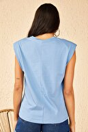 Bianco Lucci Kadın Vatkalı Penye Basic T-Shirt