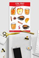 Sticker Cat Elma Şırası Sticker Planlayıcı, Ajanda, Laptop Sticker
