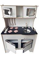 WoodyLife Çocuk Odası Ahşap Mutfak 104 Cm
