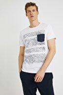 Koton Erkek Lacivert Desenli T-Shirt 1YAM14425OK