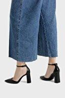 Bershka Kadın Siyah Blok Topuklu Bilekten Bantlı Ayakkabı