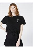 LİMON COMPANY Limon Bisiklet Yaka Nakışlı Kadın T-shirt