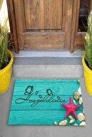 Evsebu Hoşgeldiniz Deniz Yıldızı Dekoratif Kapı Önü Paspası