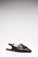 Rovigo Kadın Siyah Hakiki Deri Sandalet