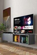 MOBU CONCEPT Plane Serisi, Çift Kapaklı Antrasit Tv Ünitesi