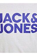 Jack & Jones JJECORP LOGO TEE SS O-NEC Beyaz Erkek T-Shirt 101069459