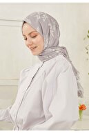 Freshscarfs Kadın Lavanta Çiçek Dalı Desen Şal
