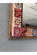 Oscar Stone Decor Oscar Stone Ahşap Çerçeveli Mozaik Doğaltaş Ayna 33 Cm X 33 Cm
