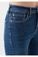 Mavi Kadın Cindy Nazar Boncuğu Detaylı Koyu  Jean Pantolon 100277-33557