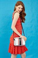 US Polo Assn Beyaz-lacıvert-kırmızı Kadın Postacı Çantası Us3033