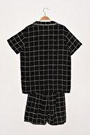 TRENDYOL MAN Siyah Ekoseli Dokuma Pijama Takımı THMSS21PT0850