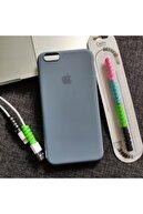Mislina Iphone 6 Plus Veya 6s Plus Uyumlu Logolu Lansman Kılıf + Kablo Koruyucu