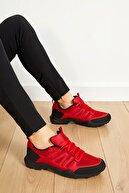 Freemax Unisex Kırmızı Siyah Ortopedik Konforlu Outdoor Spor Ayakkabı