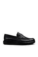 Deery Erkek Siyah Hakiki Deri  Loafer Ayakkabı