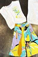 Riccotarz Kız Çocuk Mixed Omzu Vatkalı Sarı Alt Üst Takım