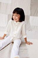 Mango Kız Çocuk Beyaz Pantolon 67075131
