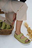 DİVOLYA Kadın Megan Yeşil Günlük Kullanım Sandalet