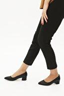 Marjin Kadın Günlük Klasik Topuklu Ayakkabı Apuntesiyah Croco