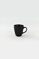 Keramika Mat Siyah Myra Kupa 10 cm 6 Adet