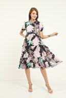 HELLİE Kadın Çok Renkli Bol Kalıp Elbise