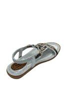 Guja Ortapedik Jel Tabanlı Kız Çocuk Sandalet Gümüş Gri 20y235-18