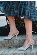 Erbilden Kadın Beyaz Cilt Topuklu Ayakkabı
