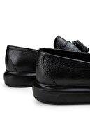 Deery Hakiki Deri Siyah Erkek Loafer Ayakkabı 01587MSYHP04