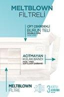 ALVENT Beyaz Meltblown Maske 50 Adet - Yumuşak Kulaklı - En Az %98 Koruma - Sertifikalı -tıp2r