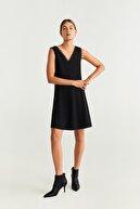 Mango Kadın Siyah Elbise 51015752