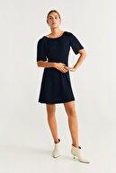 Mango Kadın Lacivert Elbise 57064754
