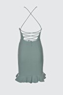TRENDYOLMİLLA Mint Askılı Elbise TPRSS19BB0042