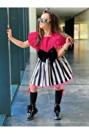 Riccotarz Kız Çocuk Fuşya Etekli Takım