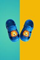 Walk and way Çocuk Mavi Happy Lion Kids Sandalet Bilekli Terlik