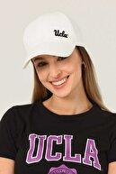 Ucla Jenner Beyaz Baseball Cap Nakışlı Şapka