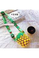Nettenevime Çocuk Ananas Bozuk Para Cüzdanı Çanta Cüzdan Küçük Para Kutusu Omuzdan Askılı Çanta