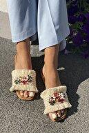 İnan Ayakkabı Kadın Püskül ve Süs Detaylı Terlik