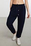 GRIMELANGE Dorset Kadın Lacivert Comfort Paçaları Ve Beli Lastikli Dekoratif Kordonlu Cepli Jogger Pantolon