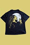 Kozmik Tapestry Unisex Bob Marley Oversize  T-Shirt