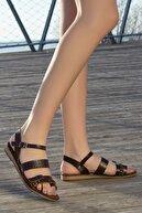 Rome Slippers Kadın Kahverengi Düz Sandalet