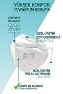 ALVENT Ffp2 Maske Çift Meltblown Katmanlı Ventilsiz Iso Ve Ce Sertifikalı 10 Adet