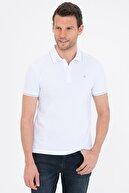 Pierre Cardin Beyaz Slim Fit Basic Polo Yaka T-Shirt