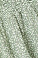 Defacto Kız Çocuk Yeşil Çiçek Desenli Askılı Elbise
