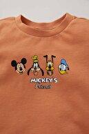 Defacto Unisex Mickey Mouse Lisanslı Kısa Kollu Tişört