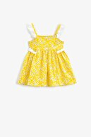 Koton Kız Bebek Sarı Çiçekli Elbise 1YMG89611ZW