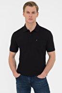 Pierre Cardin Siyah Regular Fit Basic Polo Yaka T-Shirt