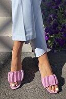 İnan Ayakkabı Kadın Plise Detaylı Terlik
