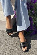 İnan Ayakkabı Kadın 5 Bant Çapraz Detaylı Terlik