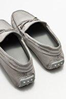 Elle Erkek Gri Deri Günlük Loafer
